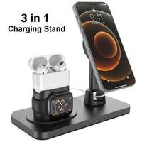 Estación de carga de escritorio 3 en 1 para AirPods Pro 1/2, soporte de Apple Watch para iPhone 12/12 Pro/12 Pro Max Magsafe