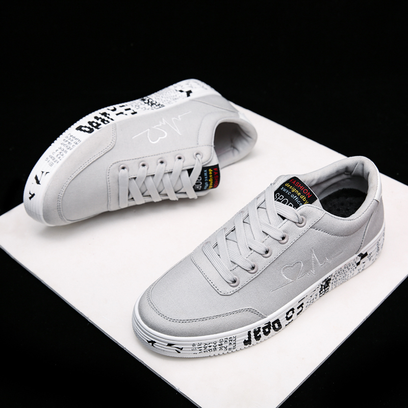 2020 Fashion Women Vulcanized Shoes Sneakers Ladies Lace-up Casual Shoes Breathable Canvas Lover Shoes Graffiti Flat