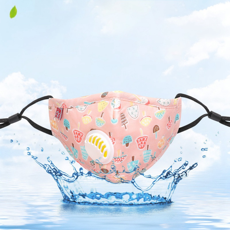 2pcs/1pc Baby Care Set New Cartoon Cute PM2.5 Anti-Dust Disposable Mouth Face Mask For Kids Cotton Masks With Filter Respiration