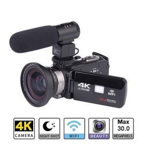 Image 2 - Full HD 4K Video kamera Wifi el DV profesyonel gece görüş Anti Shake dijital fotoğraf kamerası kamera akış sabitleyici
