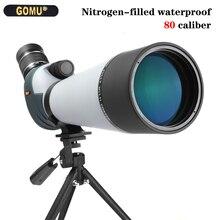 20 60X80 Spotting Scope High Power Dual Speed Focusing Binoculars Nitrogen Waterproof Anti Fog FMC Night Vision Telescope