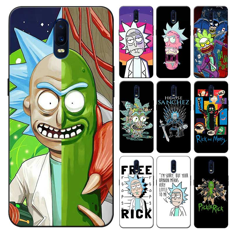 For <font><b>oneplus</b></font> one plus 7 pro 7t pro 7 <font><b>6</b></font> 6t 5t Soft silicone Cover Phone <font><b>Case</b></font> Funny Rick and Morty Cartoon <font><b>anime</b></font> image