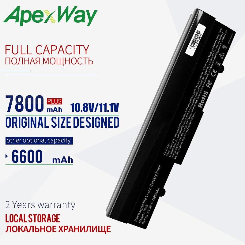 Black  9 Cells 6600mAh Battery For Asus  Eee PC 1001PX 1001HA 1005P 1001PQ 1005 1005HA  AL31-1005 AL32-1005 ML32-1005 PL32-1005