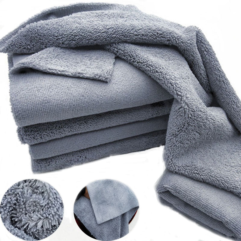Wax-Towel Quick-Detailing Microfiber-Cloth Polishing Car-Care Edgeless Universal 380GSM