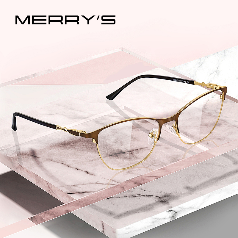 MERRYS DESIGN Women Fashion Trending Cat Eye Glasses Full Frame Ladies Myopia Eyewear Prescription Optical Eyeglasses S2108