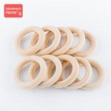 Mamihome 20pc anel de madeira bordo superfície lisa natural dentição de madeira crianças diy fazendo colar artesanato acessórios