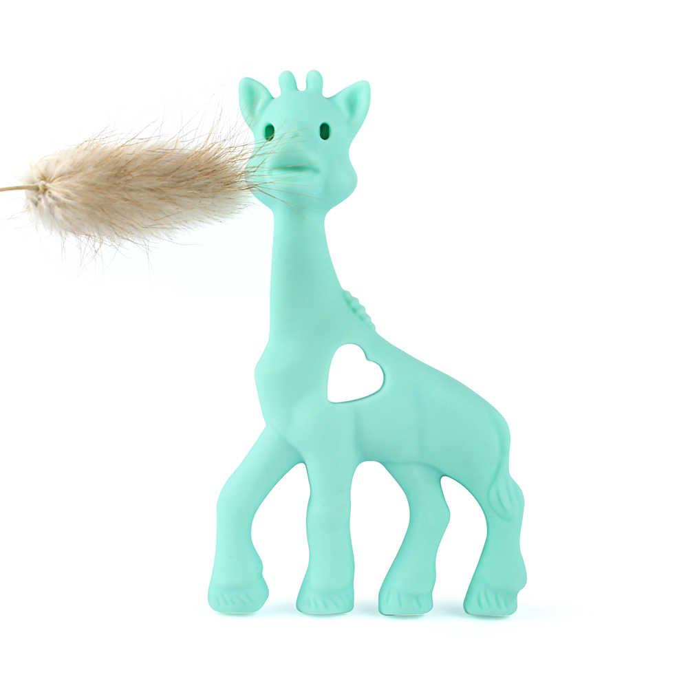Gargantilha de silicone para bebês, colar macio de animais para pendurar no brinquedo, 1 peça mordedor do bebê