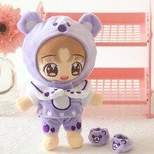 [MYKPOP] KPOP куклы Одежда и аксессуары-фиолетовый 4 шт набор для 20 см куклы(без куклы) EXO/Bangtan SA19112405