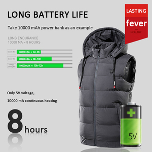 Electric Heated Hooded Vest Thermal Waterproof Jacket Accessories USB Charging Vest Heating Warmer Pad Hiking Warm Outdoor Cloth