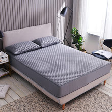 Adorehouse Breathable Gray Embossed Mattress Covers Protector Bed Cover No Zipper 180*200 Mattresses Topper Full Size Bedding