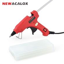 NEWACALOX 20W EU/US 핫멜트 접착제 총 무료 20pc 7mm 접착제 스틱 산업용 미니 총 열 전기 열 온도 도구