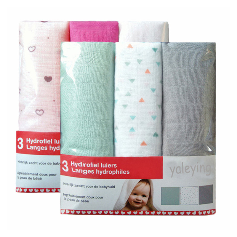 3 Pieces Diapers For Newborn Muslin Cotton Nappy Baby Reusable Diapers Repeated Use Gauze Blanket Cloth Nappies 60*60 Cm
