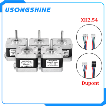 5Pcs/lot 17HS4401 4 lead Nema17 Stepper Motor 42 motor Nema 17 motor 42BYGH 1.5A (17HS4401) motor for CNC XYZ 3d printer - DISCOUNT ITEM  20% OFF Home Improvement