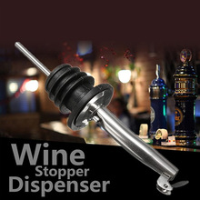 Stainless Steel Wine Bottle Pourer Pourer Oil Cork Bartender Wine Accessories Bar Accessories Wine Pourer knob handle 2018 crystal glass various wine cork corkscrew bottle stopper oxygenating pourer tie plug bung party gift yz 5050