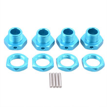 4pcs 81011 Aluminium Alloy Combiner Six Angle Wheel Seat 17mm Mount Hub Nuts Pin RC 1/8 Buggy Truck Tires Rim 94762 94081 eglo 94762