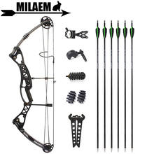 Стрельба из лука m106 блочный лук и стрела охотничий 40 60 фунтов