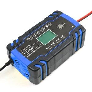 Image 2 - Foxsur 12V 24V Lood zuur Agm Gel Nat Efb Auto Motorfiets Acculader, Smart Battery Charger, puls Reparatie Batterij Oplader