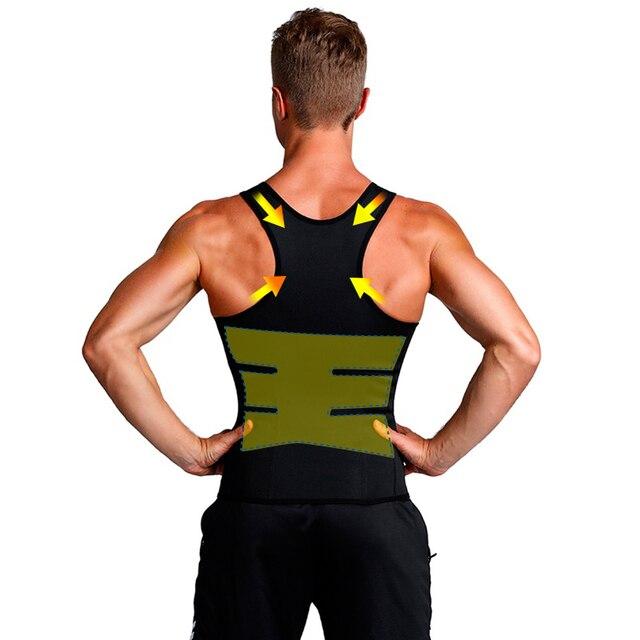Slimming Belt Belly Men Slimming Vest Body Shaper Neoprene Abdomen Fat Burning Shaperwear Waist Sweat Corset Dropshipping 4