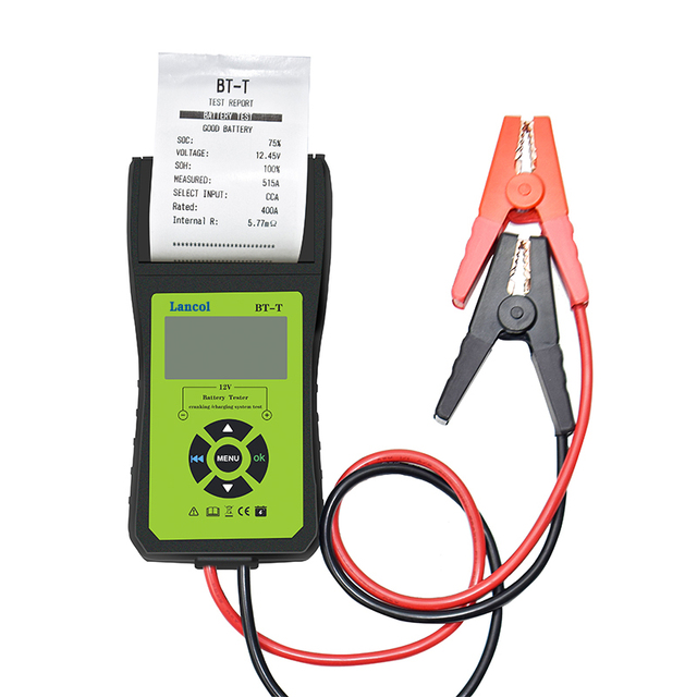 Lancol BT T 12V Auto Battery Diagnostic Tool  For Digital  Battery Tester With Printer  For Fast And Simple Print  Test Result