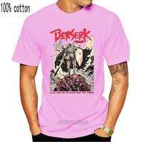 Berserk Guts-Camiseta negra de Manga corta con cráneo de caballero japonesas negras, talla S-Xxl, para hombre