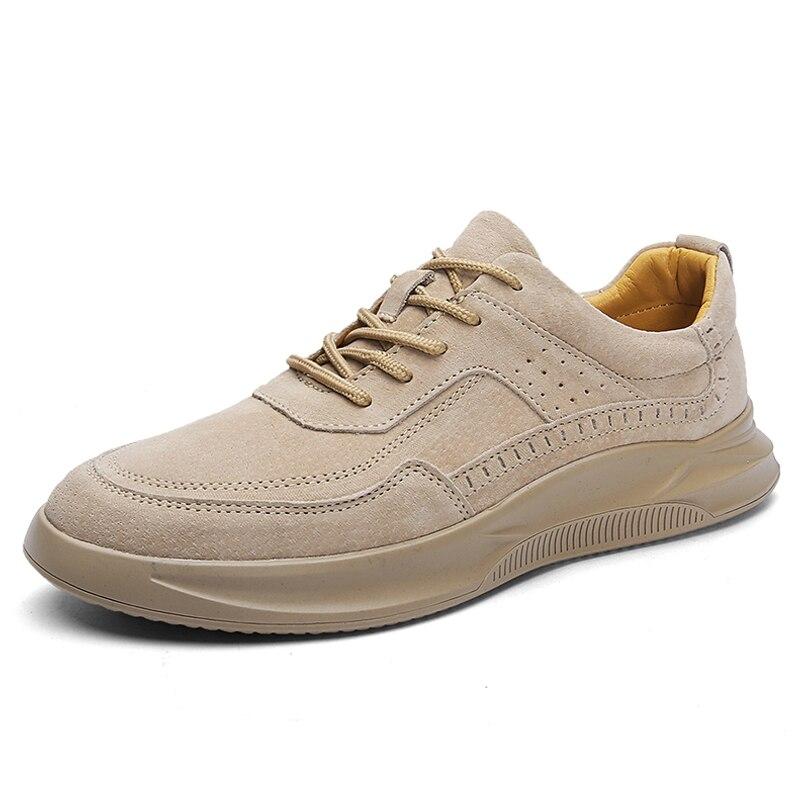 Genuine Leather Shoes Men Sneakers Fashion Casual Shoes Outdoor Walking Shoes Comfortable Men Shoes Leather Zapatos De Hombre