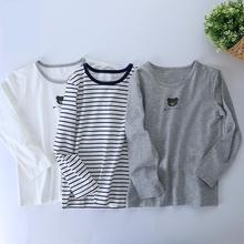 95% cotton 2pcs one lot boy inside t shirts for autumn and winter height 100-160cm 1076