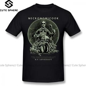 Arkham Horror T Shirt Necronomicook T-Shirt Man Short Sleeves Tee Shirt Funny Fashion XXX Cotton Print Tshirt(China)
