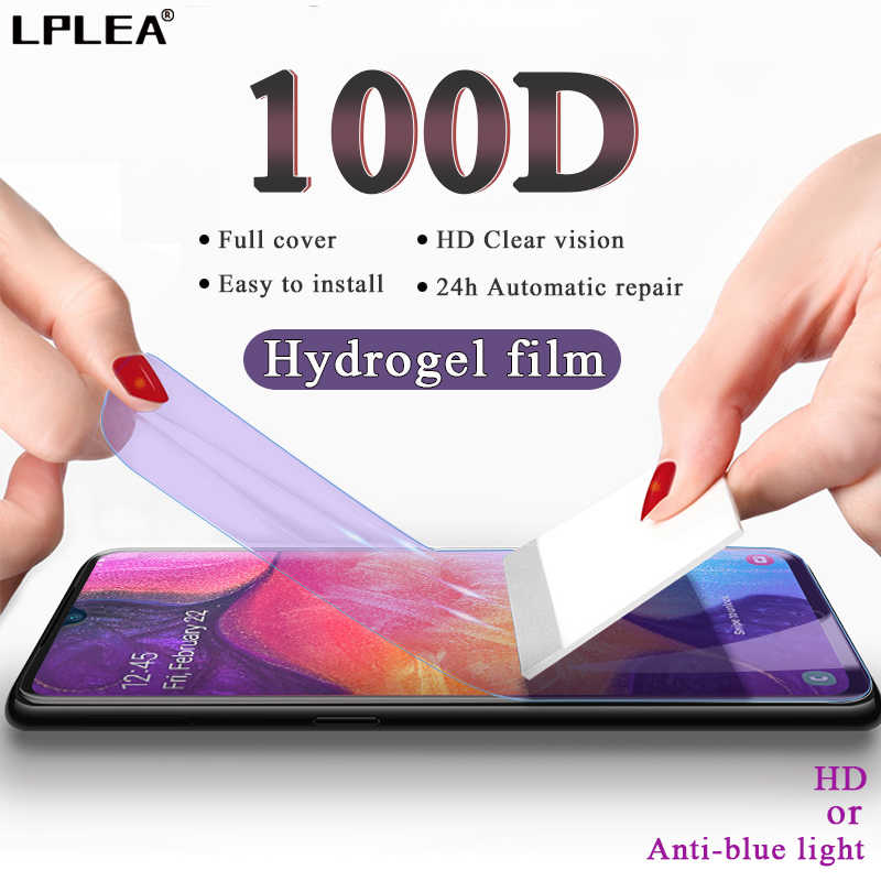 100D Hydrogel Film Voor Samsung Galaxy A10 A50 A20 Screen Protector Voor Note 8 9 10 Plus A30 A40 A20E a60 A70 A90 Film Niet Glas