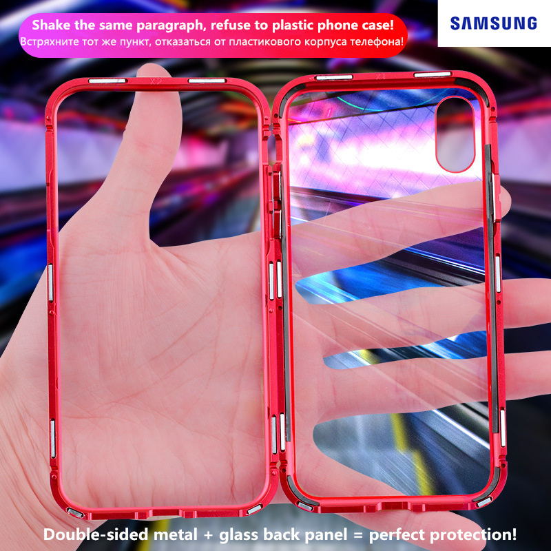 <font><b>360</b></font>° Magnetic Adsorption <font><b>Case</b></font> for For <font><b>Samsung</b></font> Galaxy s10 lite s10 5G s7 s8 s8/s9/s10/a6/a8/j6 plus <font><b>note</b></font> 10 9 <font><b>8</b></font> 10 pro j2/a2 core image