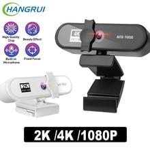 4K 2K Webcam HD Full 1080P Web Cam Camera PC Computer WebCamera USB Webcam Cover Mini Camera With Microphone kamera internetowa