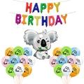 Jumbo коала Фольга шар коала латексные шары Baby Shower животных тематическая вечеринка на день рождения украшения игрушка сафари Globoss