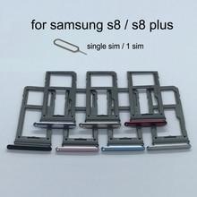 Для Samsung Galaxy S8 g950 G950F S8 Plus G955 G955F корпус телефона адаптер sim-карты и микро лоток для карт SD Держатель