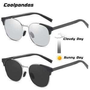 Image 3 - Солнцезащитные очки поляризационные для мужчин и женщин, умные фотохромные круглые очки дневного и ночного видения, для вождения