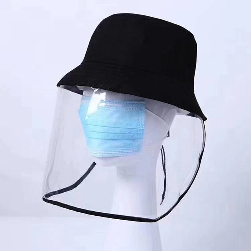 Protective Bucket Hat Unisex Facial Mask Anti-Dust Anti-fog Sun Hats  Enclosing Anti-dust Caps Outdoor Face Shield Fisherman Hat