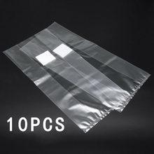 10/20/50 adet 25*50cm PVC mantar Spawn çanta büyümek substrat yüksek sıcaklık ön yapışmalı mantar için mantar tahıl tahıl kreş
