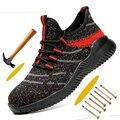 Противоскользящая стальная безопасная обувь для мужчин  защитная Рабочая обувь для мужчин  рабочая обувь  удобная спортивная обувь для муж...