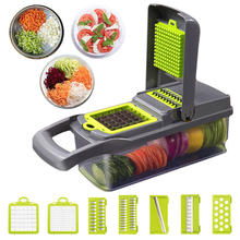 Upgrade Vegetable Cutter Multifungsi Mandoline Slicer Pisau Stainless Steel Kentang Buah Pengupas Wortel Parutan Dapur Alat(China)