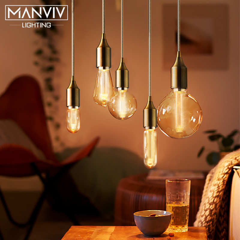 Nordic Modern Pendant Lights E27 LED Modern Creative Hanging Lamp Cafe Restaurant Glass Industrial Decor Metal Pendant Lamp