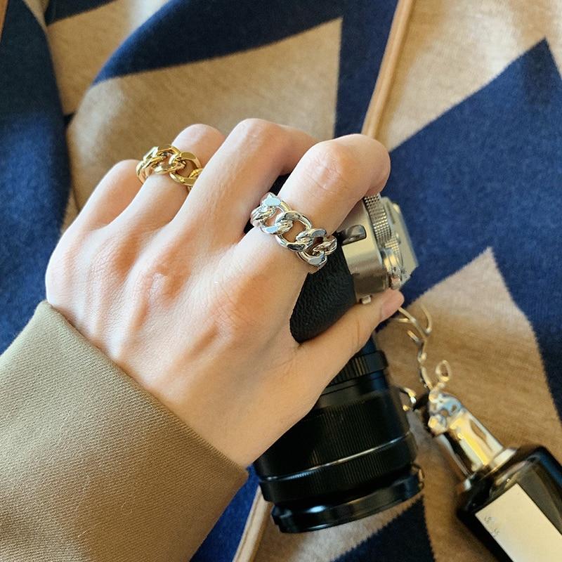 Ha54c0b4fd93f41d7b5d355f5edec740fm 1PC 2020 Fashion Golden Metal Rings for Women