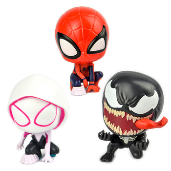 1pc Japan capsule toys cute kawaii cartoon anime Into the Spider-Verse Miles Morales Peter Gwen Stacy Gwminiature figures image