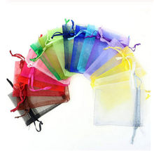 20 pcs/lot Organza Bags Wedding Pouches Jewelry Candy Cookie Packaging Bags Nice Gift Bag Event Party Packing Supplies(China)