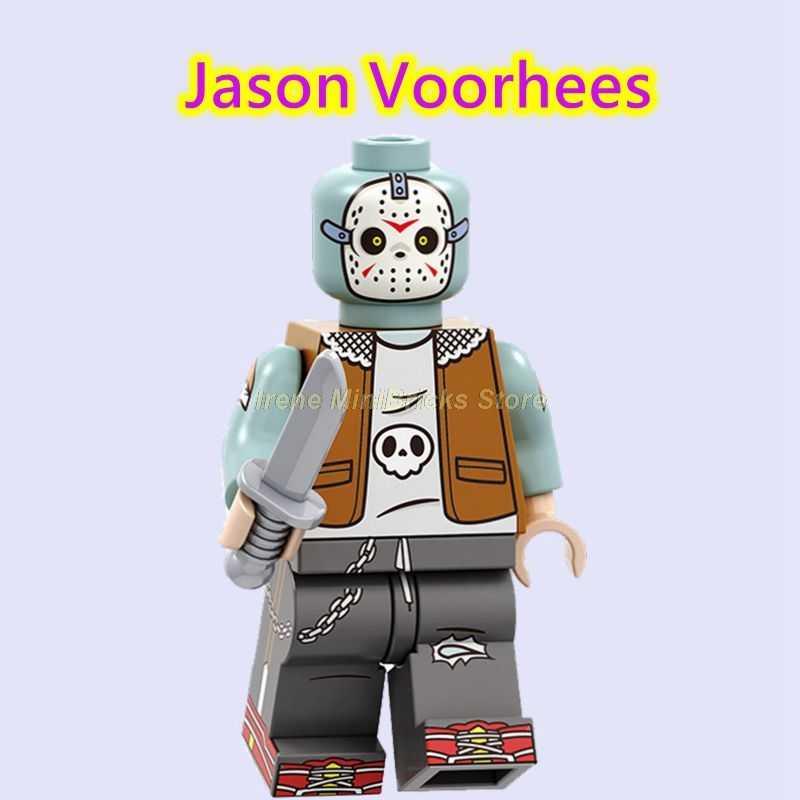 Viernes 13 Jason Voorhees regalo de Halloween Joker la máscara de Sally Jack Skellington Hannibal bloques de construcción juguetes para niños