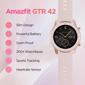 Image 2 - 재고 있음 글로벌 버전 Amazfit GTR 42mm 여성용 시계 5ATM Smartwatch 12 일 배터리 안드로이드 IOS 폰용 GPS 음악 제어