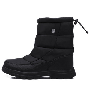 Image 2 - YWEEN Boots Men Snow Boots 2020 New Black Waterproof Men Winter Boots Plush Very Warm Non slip Outdoor Cotton Shoes Footwear