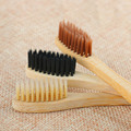 1Pc 4 Farben Bambus Fibre Weich Mittel Zahnbürste Umwelt Holz Zahnbürste Oral Care Zähne Sauber Schutzhülle Zubehör Werkzeug