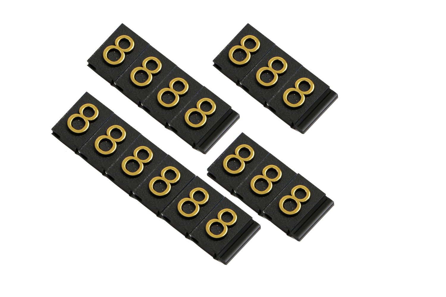 Lot Of 10 Same Adjustable Price Tags Assembly Arabic Numerals Jewelry Cothes Shop Counter Top Digit Display Cube Sign Label P1