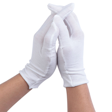 White Gloves Hands-Protector Mittens Jewelry/workers Full-Finger Women Sweat High-Quality