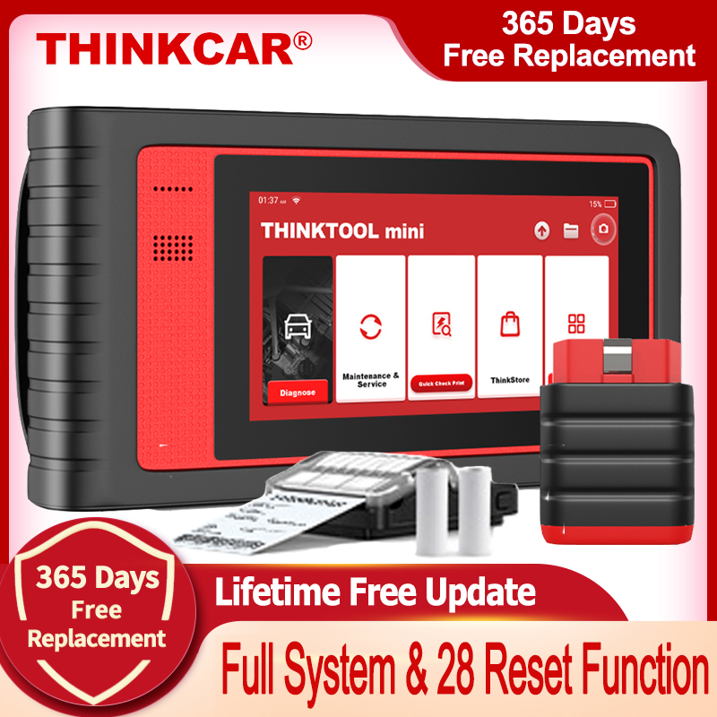 Thinkcar Thinktool mini OBD2 сканер, профессиональный полный диагностический сканер системы, Автомобильный сканер, кодирование ЭБУ, активное тестирова...