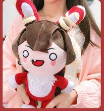 Anime jogo de pelúcia genshin impacto travesseiro cosplay adereços projeto amber animal estimação earl coelho dos desenhos animados bonecas bonito crianças brinquedos recheados presentes