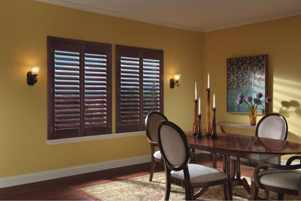 Custom Basswood Plantation Shutters Wooden Blinds Solid Wood Shutter Louvers PS234